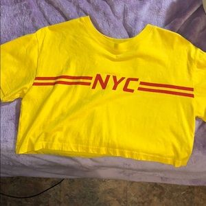 Yellow NYC crop top
